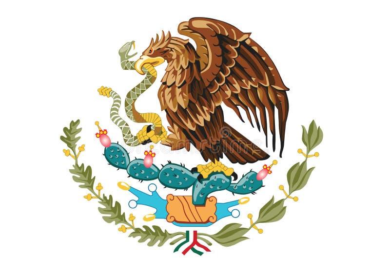 Vapensköld av Mexico vektor illustrationer