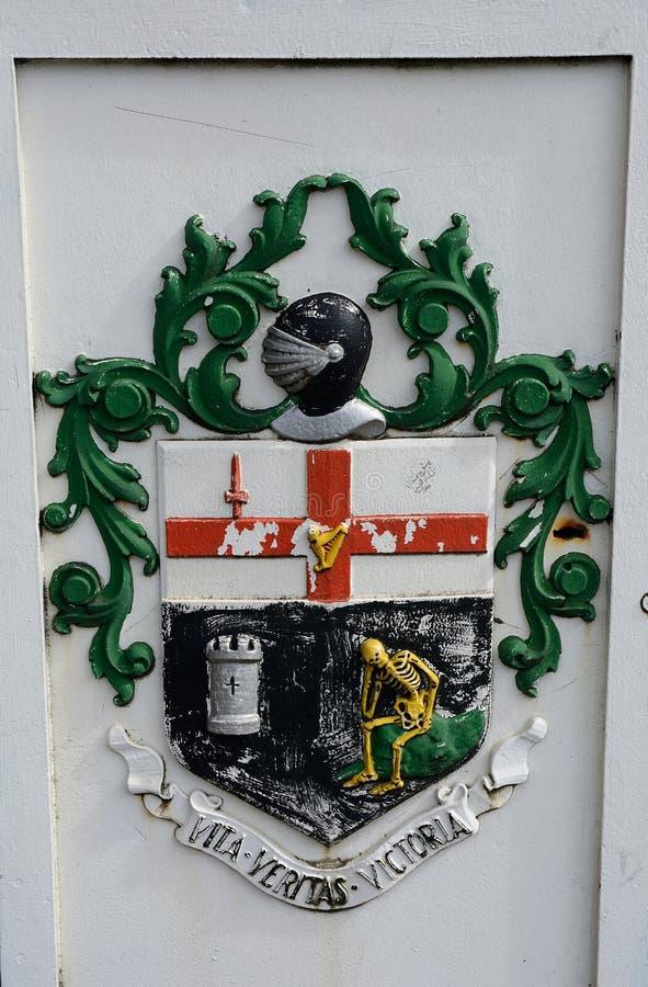 Vapensköld Derry som är nordlig - Irland arkivfoto