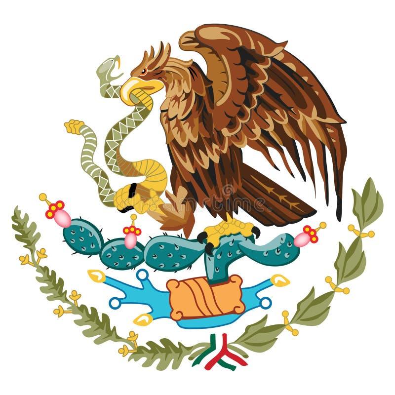 Vapensköld Mexico royaltyfri illustrationer