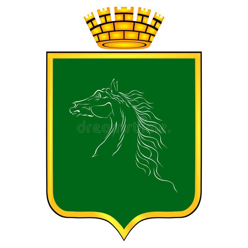 Vapenskölden med bilden royaltyfri illustrationer