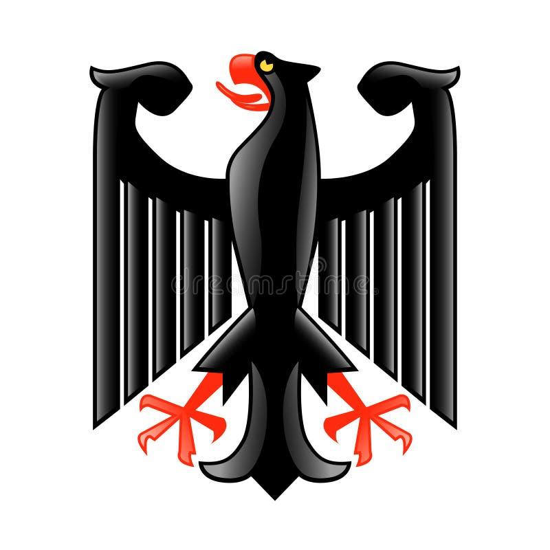 VapensköldTyskland som isoleras på den vita vektorn stock illustrationer