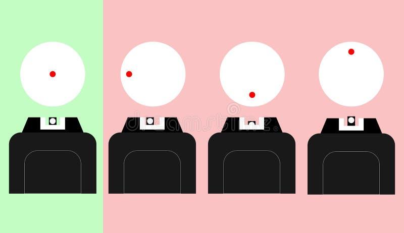 Vapenskytte vektor illustrationer