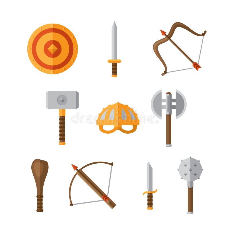 Vapenuppsättning stock illustrationer