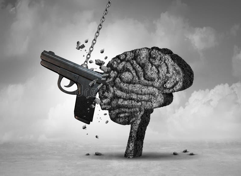 Vapenvåld och mentala hälsor royaltyfria foton