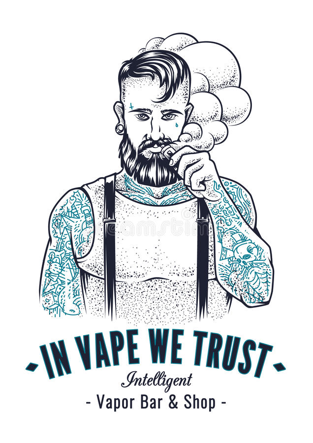 Vaper-Hippie-Kunst stock abbildung
