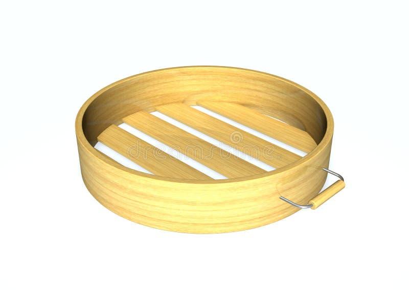 Vapeur en bambou illustration libre de droits