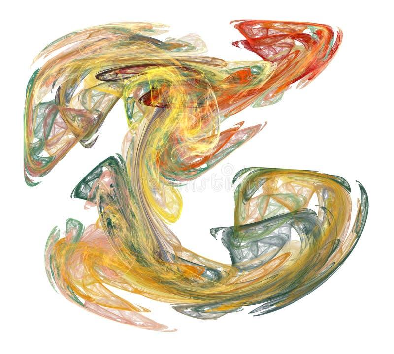 Vapeur multicolore de fumée sur le blanc illustration de vecteur