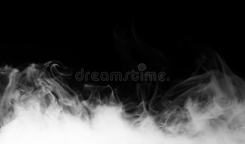 Vapeur sur le fond noir photographie stock
