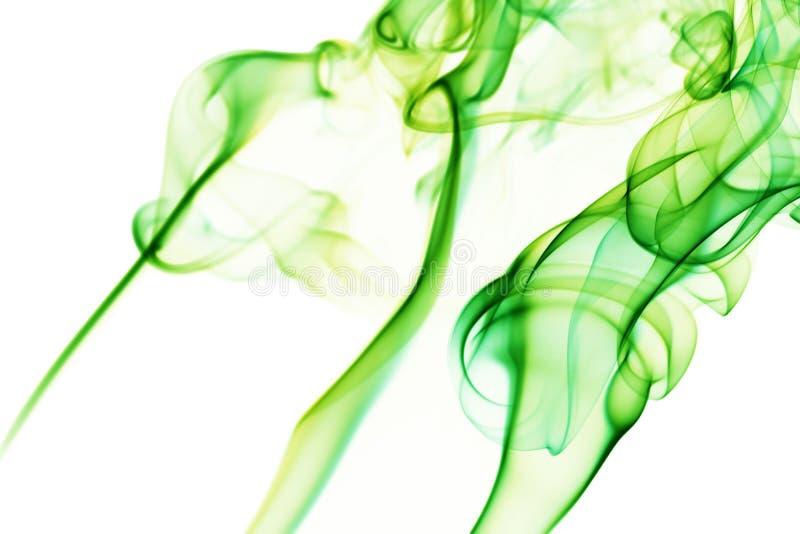 Vapeur verte sur le fond blanc photo libre de droits