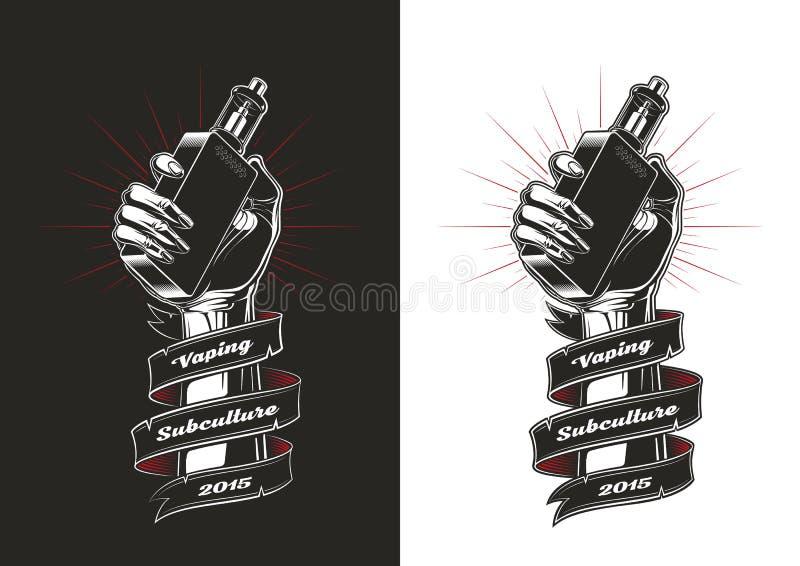 Vaping vector illustration stock illustration