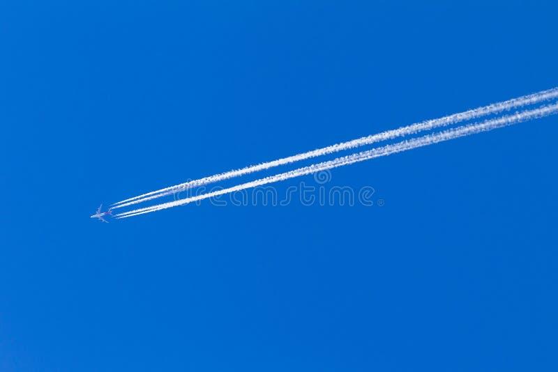 Vapor azul plano fotografía de archivo