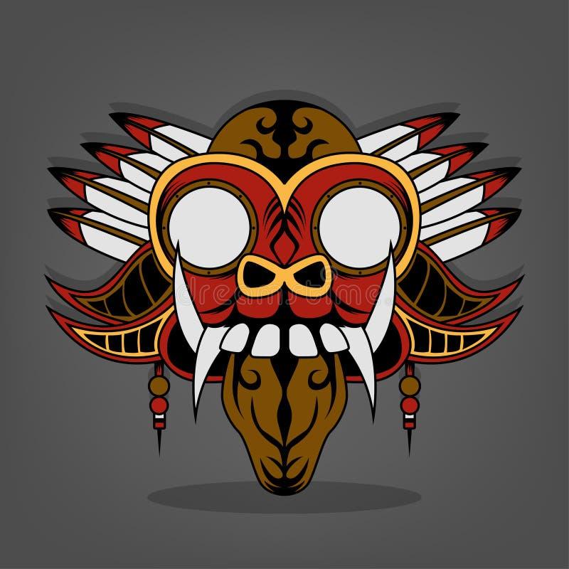 Vapor Barong punky Bali ilustración del vector