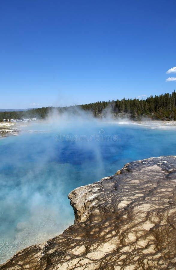 Vapor das molas quentes de Yellowstone fotografia de stock royalty free