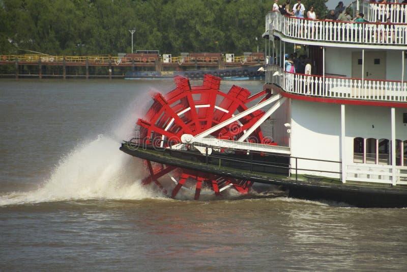 Vapor de paleta en el Mississippi foto de archivo