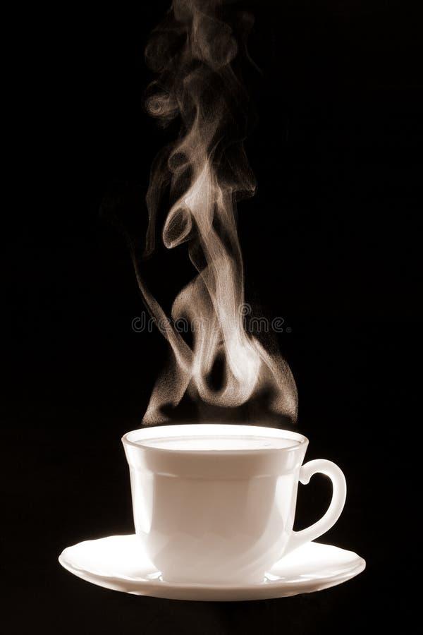 Vapor del café de la taza foto de archivo