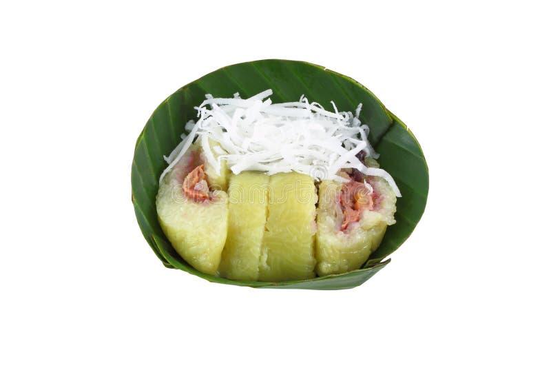 Vapor del plátano en arroz rechoncho imágenes de archivo libres de regalías