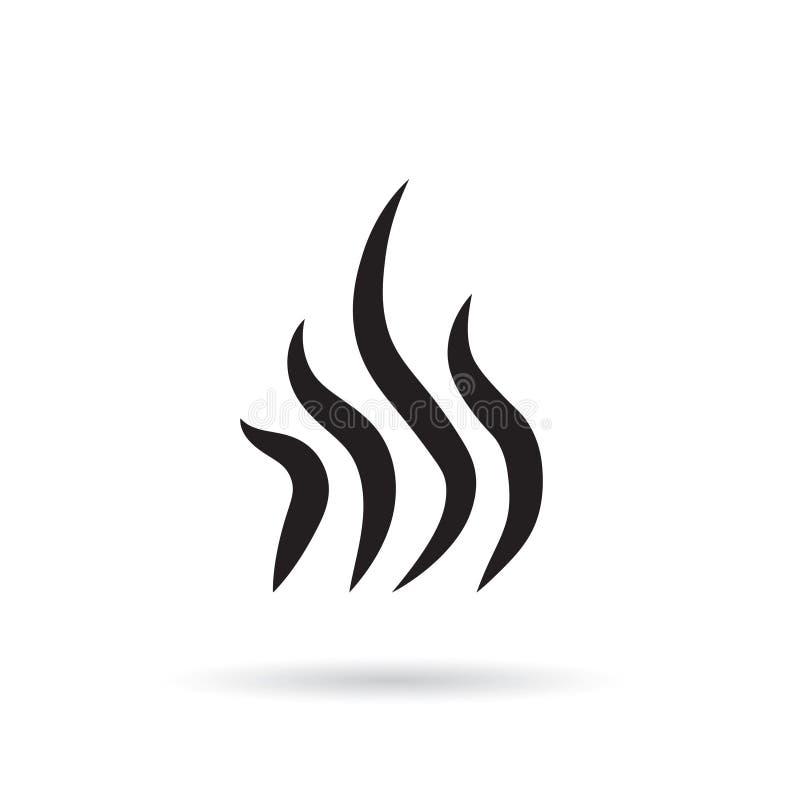Vapor, fumo, ícone do aroma ilustração do vetor