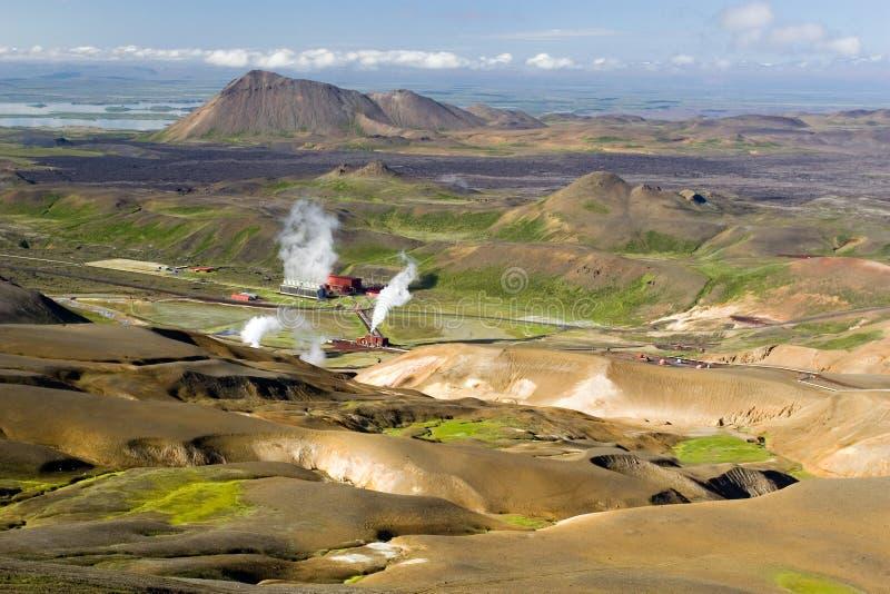 Vapor Geothermal I. foto de stock royalty free