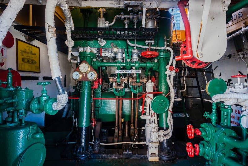 Vapor Tug Vessel Engine Room foto de stock royalty free