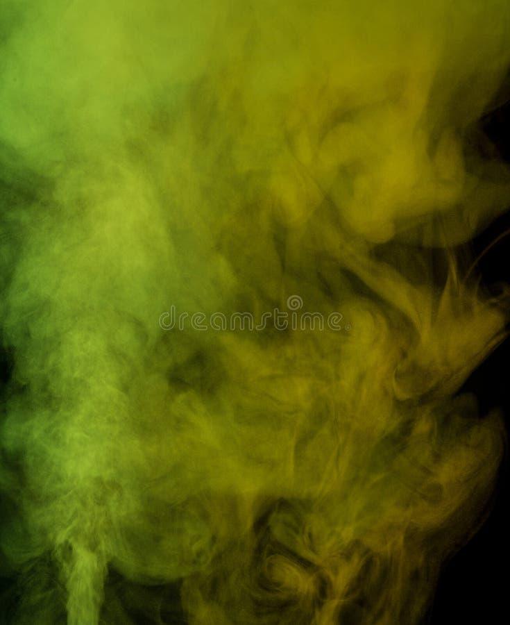 Vapore acqueo di verde giallo fotografie stock