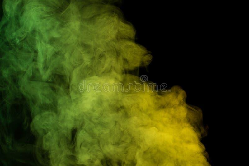Vapore acqueo di verde giallo immagini stock