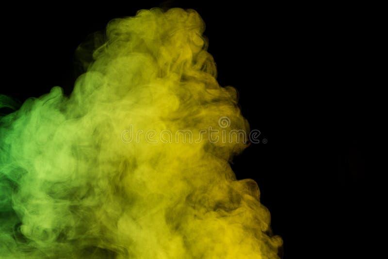 Vapore acqueo di verde giallo immagini stock libere da diritti