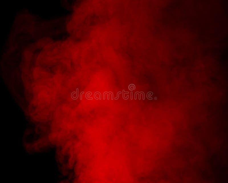 Vapore acqueo rosso immagini stock