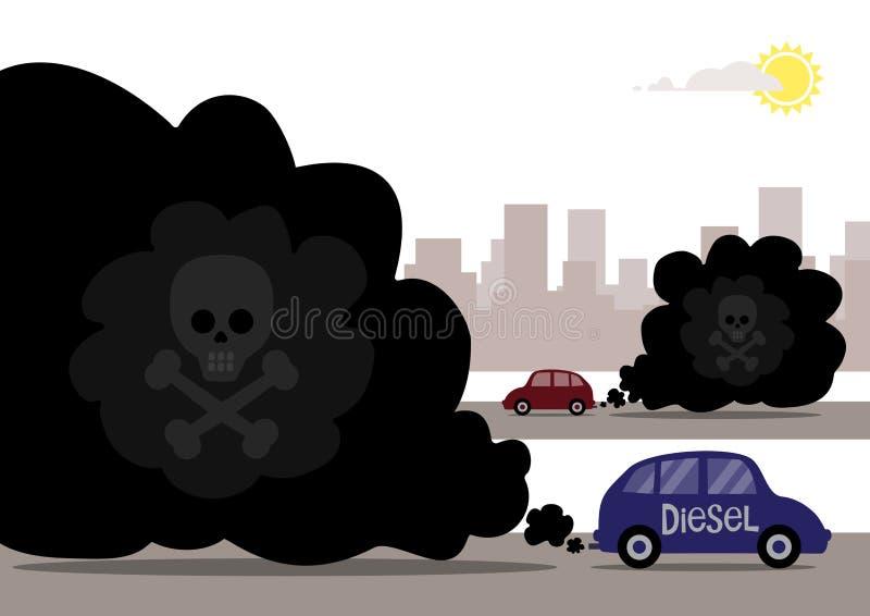 Vapori diesel illustrazione di stock