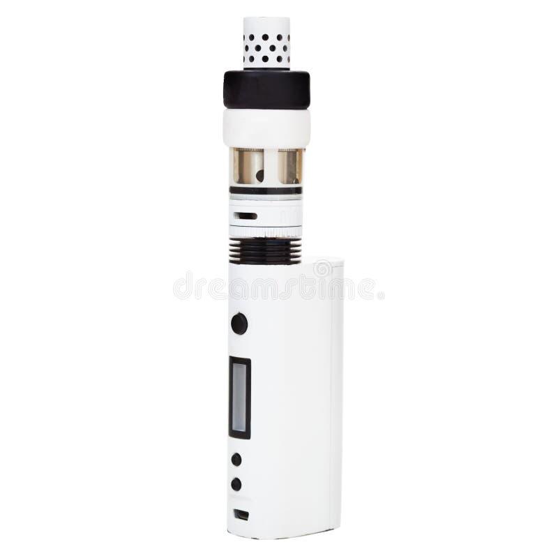 Vaporisateur ou cigarette électronique pour le tabagisme image stock