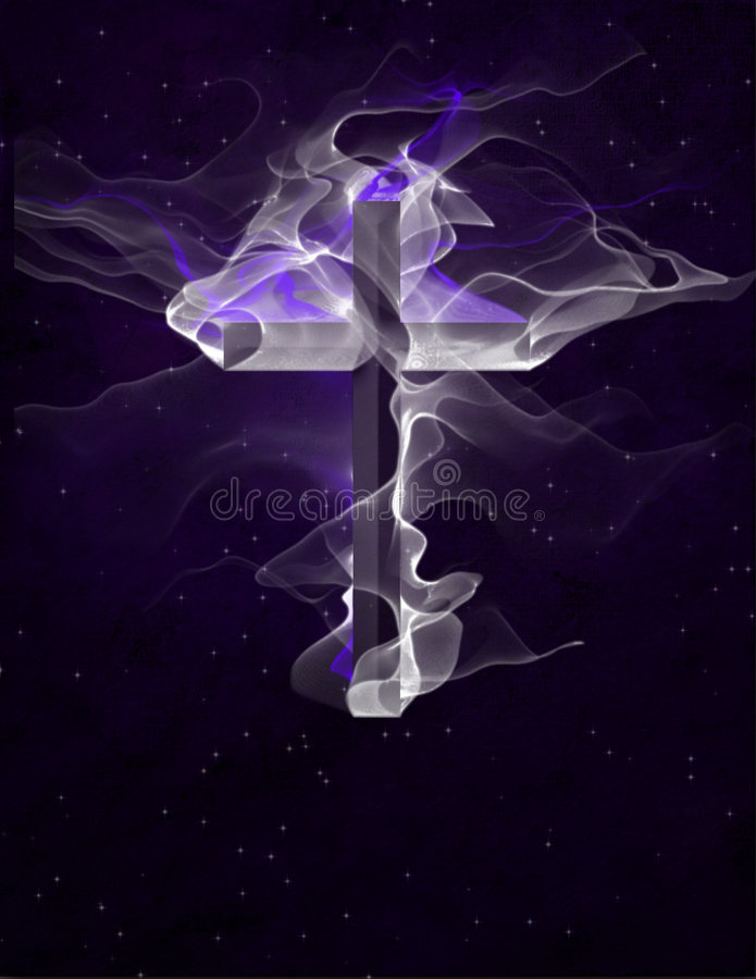 Vaporous Cross royalty free illustration