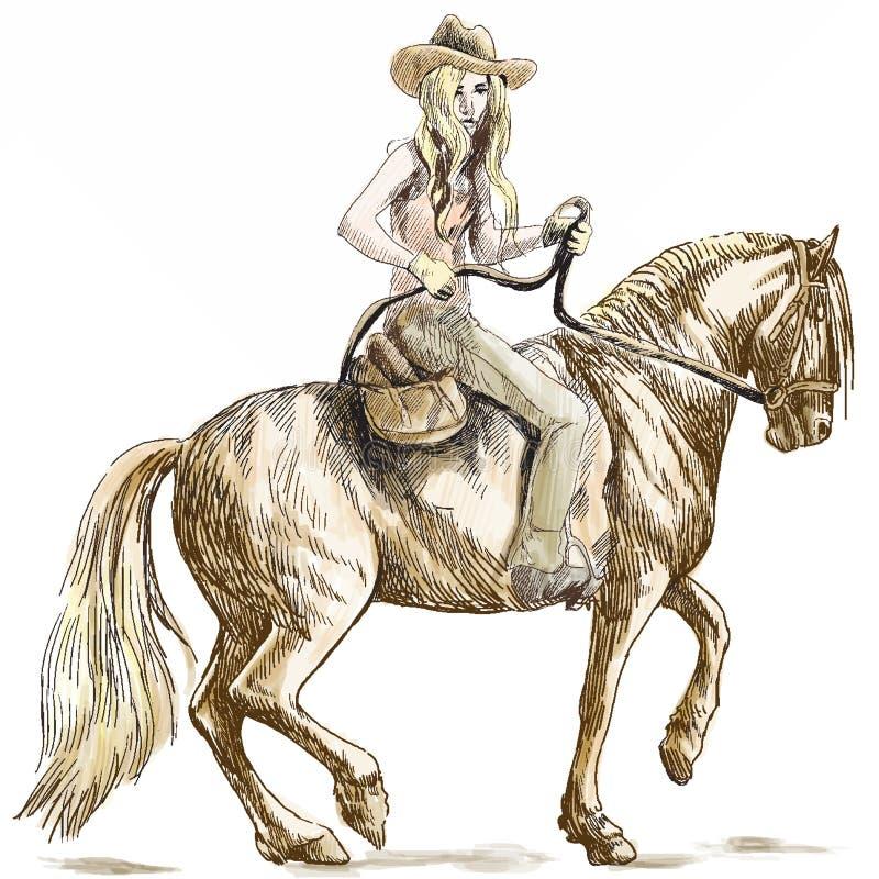 Vaqueira ilustração royalty free