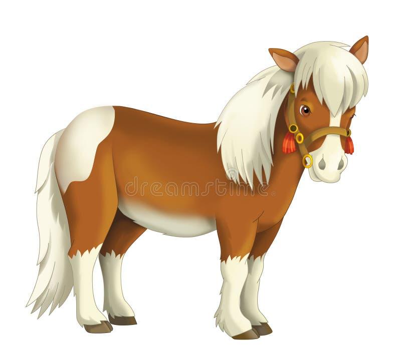 Vaqueira - vaqueiro - oeste selvagem - ilustração para as crianças ilustração royalty free