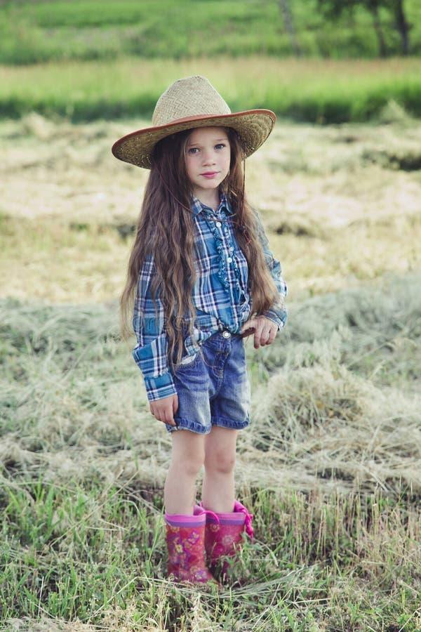 Vaqueiro da menina imagens de stock royalty free