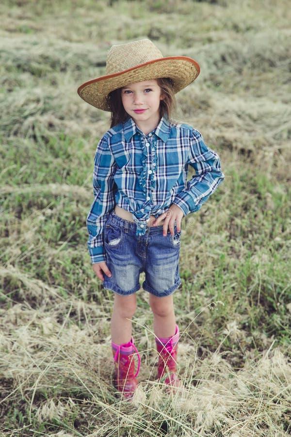 Vaqueiro da menina fotografia de stock royalty free
