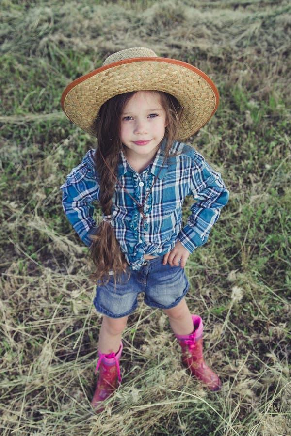 Vaqueiro da menina fotografia de stock