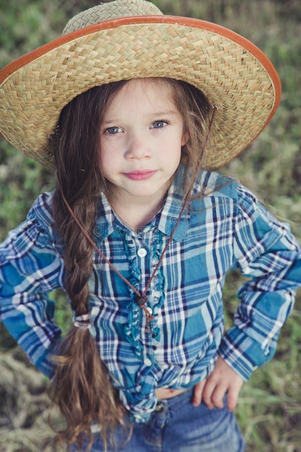 Vaqueiro da menina do retrato imagem de stock royalty free