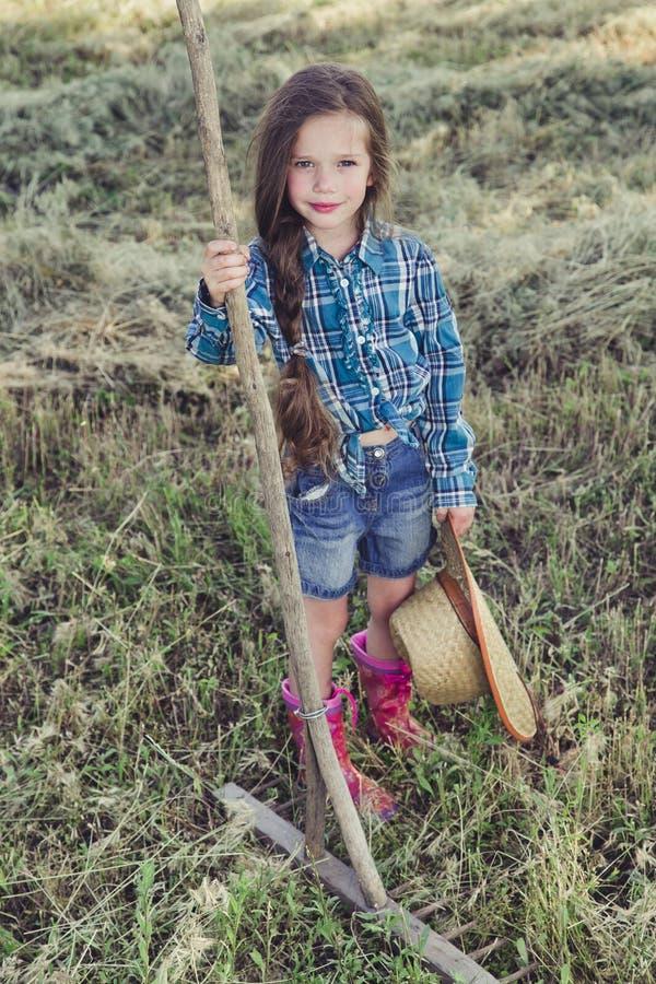 Vaqueiro da menina do retrato imagens de stock