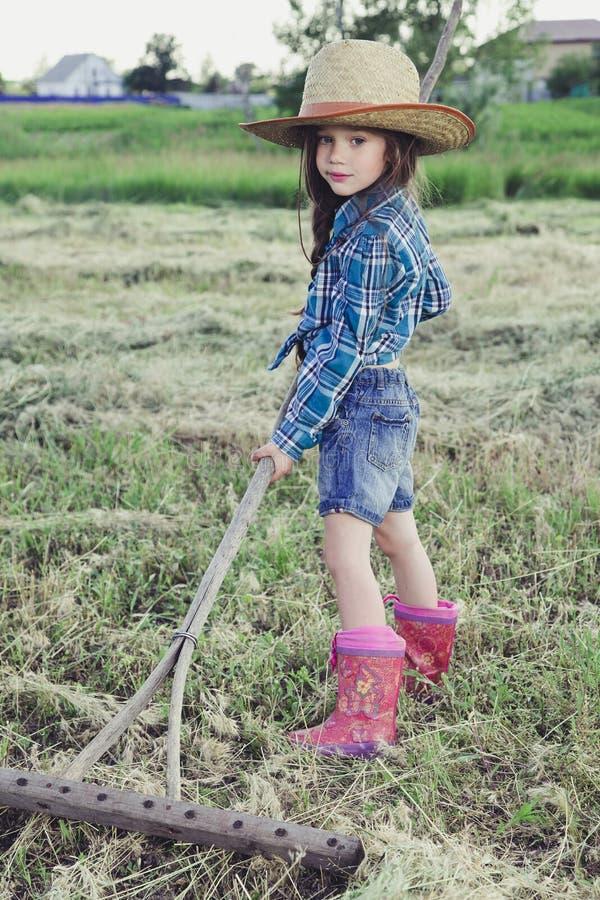 Vaqueiro da menina do retrato fotos de stock