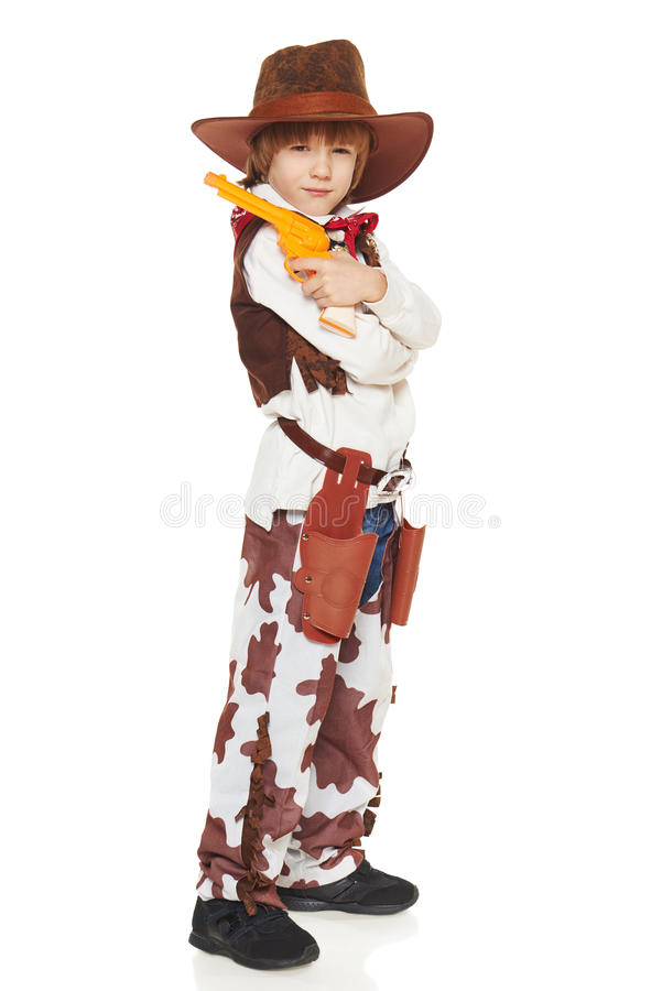 Vaqueiro do rapaz pequeno fotos de stock