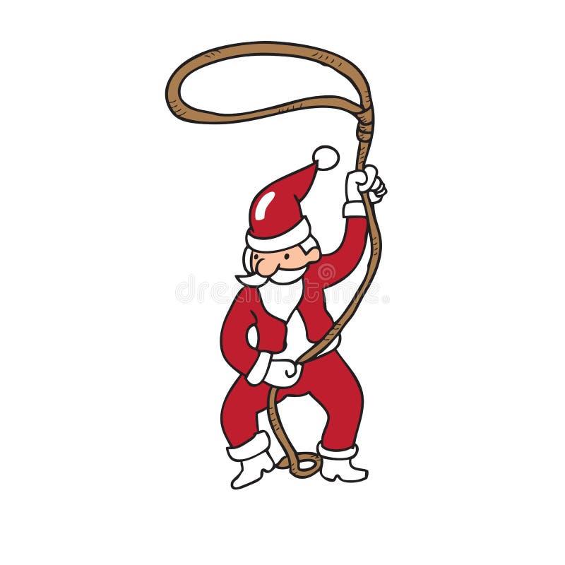 Vaqueiro Santa ilustração do vetor