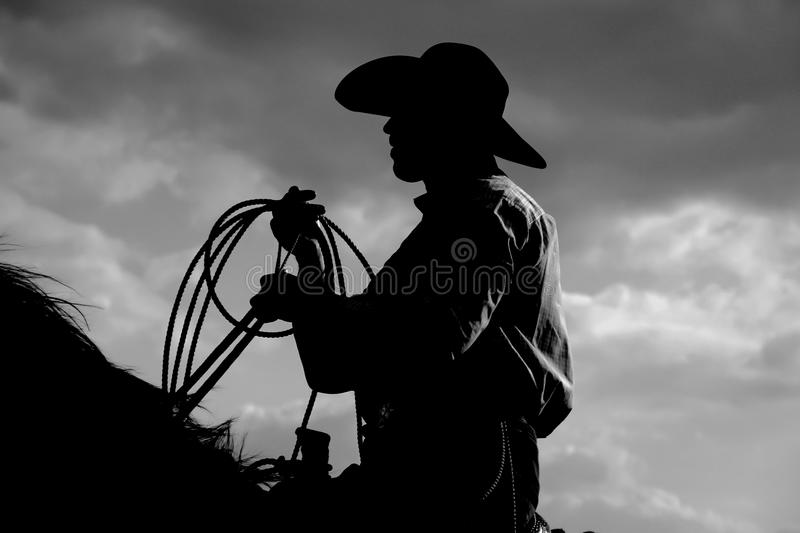 Vaqueiro Sihouette imagens de stock royalty free