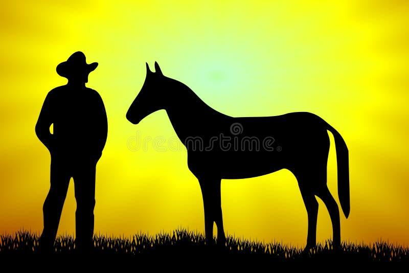 Vaquero ilustración del vector
