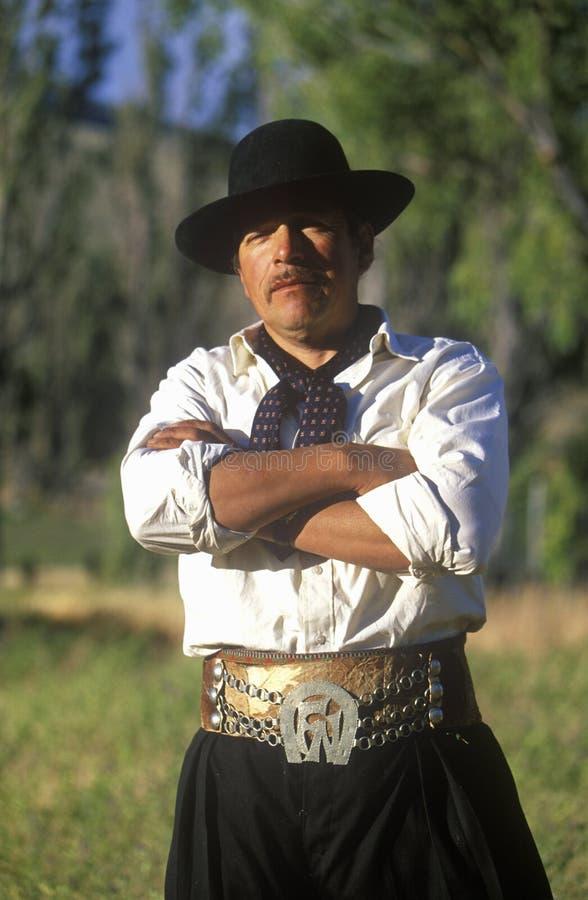 Vaquero argentino del gaucho en el EL Calafate, Patagonia, la Argentina fotografía de archivo