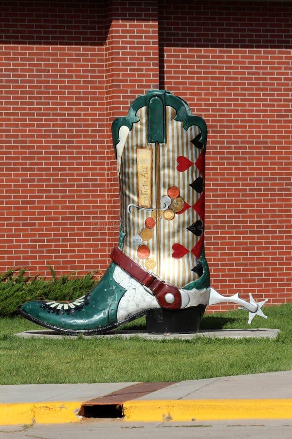 Vaquero Boot, Cheyenne, Wyoming fotografía de archivo libre de regalías