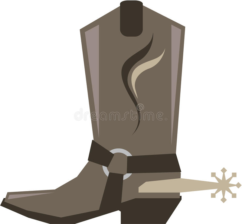 Vaquero Boot Vector libre illustration