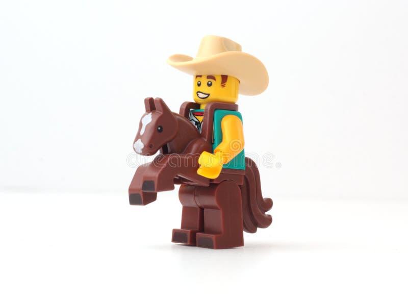 Vaquero LEGO fotografía de archivo