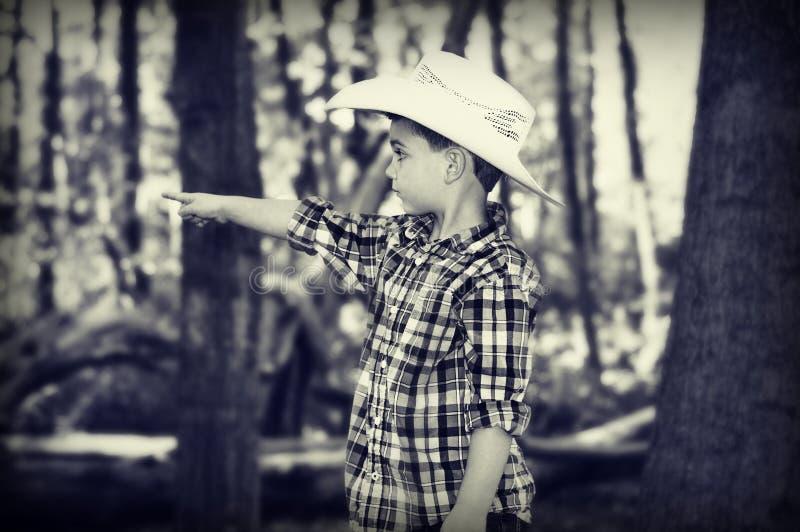 Vaquero Pointing fotos de archivo libres de regalías