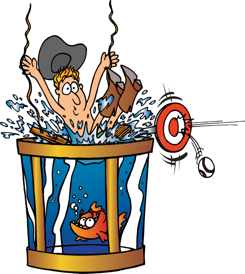 Vaquero que consigue dunked libre illustration