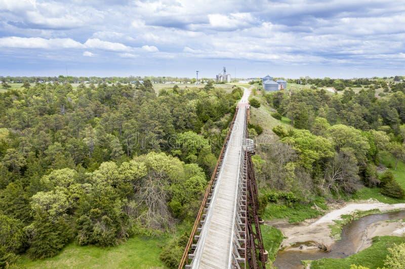 Vaquero Trail en la opini?n a?rea de Nebraska fotografía de archivo