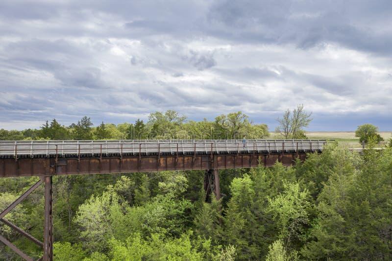 Vaquero Trail en la opini?n a?rea de Nebraska imagenes de archivo